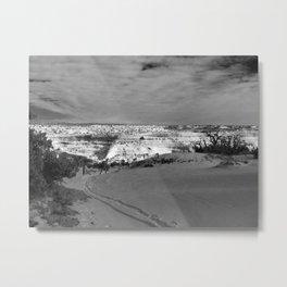 Snow Tracks Metal Print