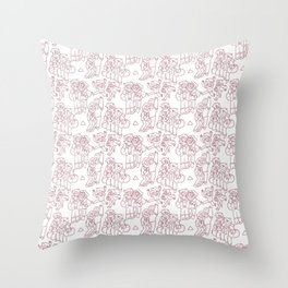 Stan and Ford Pattern Throw Pillow