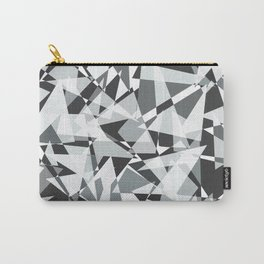 Gray-scale Triangle Scatter Carry-All Pouch