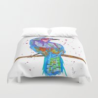 coco Duvet Covers featuring coco by Laurie Art Gallery