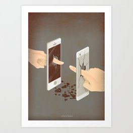 The Real Touch Art Print