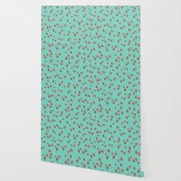 Peppermint Candy in Aqua Wallpaper