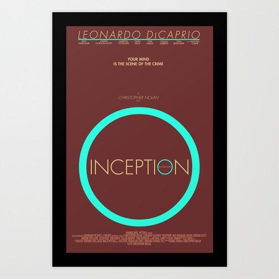Inception - Minimalist Poster Art Print