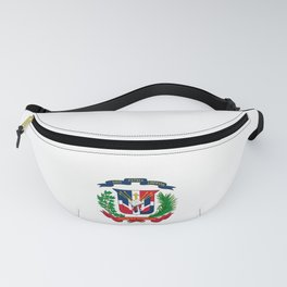 seal of the dominican republic-dominican,hispaniola,dominicana,antilles,caribean,santo domingo Fanny Pack