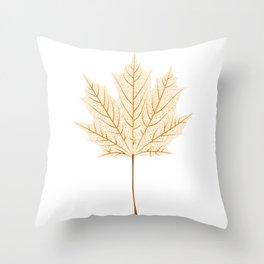 Maple leaf skeleton Throw Pillow