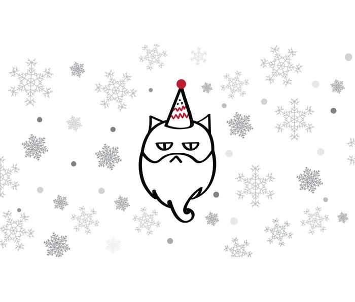 Santa Max The Cat Metal Travel Mug