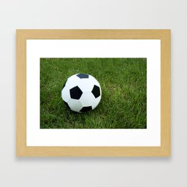 Soccer Ball Framed Art Print