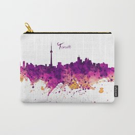 Toronto Watercolor Skyline Carry-All Pouch