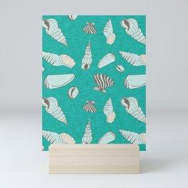 ocean sea shell aqua  Mini Art Print