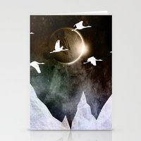 fly Stationery Cards featuring Fly High by Nireth