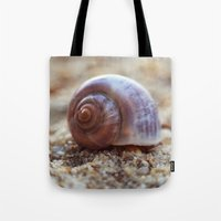 seashell Tote Bags featuring Seashell by Ekaterina La
