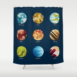 Away from Home and Back - dark Shower Curtain