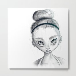 Sporty girl Metal Print