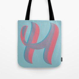 Bold 'H' Dropcap Tote Bag