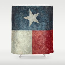 Texas state flag, Vertical retro vintage Shower Curtain