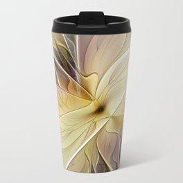 Floral Beauty, Abstract Fractal Art Flower Travel Mug