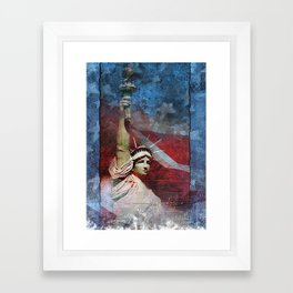 Statue of Liberty Patriotic Poster Framed Art Print