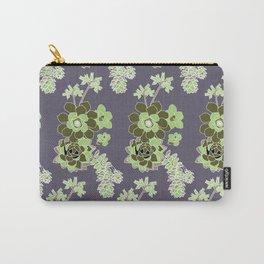 Purple Succulent Carry-All Pouch