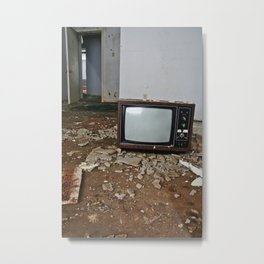 Rooms include colour T.V. Metal Print