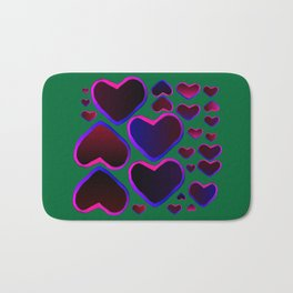 Heart in the countryside Bath Mat