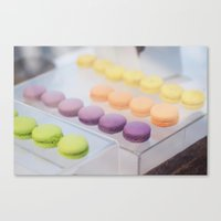 macaron Canvas Prints featuring Macaron by sparkofinspiration