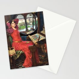 John William Waterhouse - I Am Half Sick Of Shadows, Said The Lady Of Shalott Stationery Cards