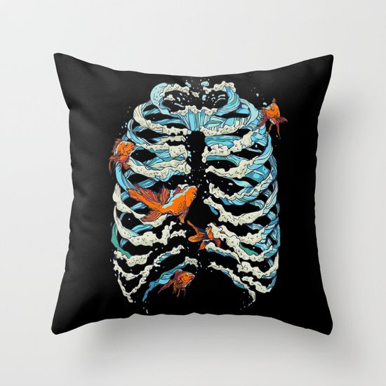 FISH BONE  Throw Pillow