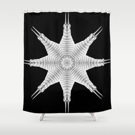 Ninja Star 9 Shower Curtain