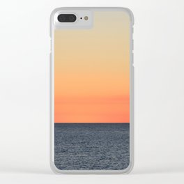Setting Sun on the Open Sea Clear iPhone Case