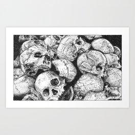 Pile o' Skullies Art Print