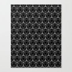 Icosahedron Pattern Black Canvas Print