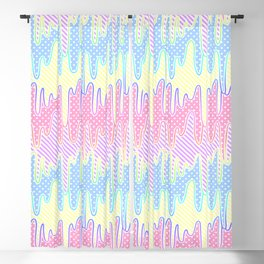Melty Patterned Slime Blackout Curtain