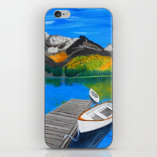 Summer day on the lake  iPhone & iPod Skin