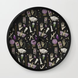WITCH pattern • in black salt Wall Clock