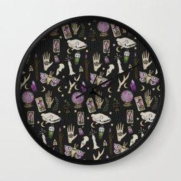 WITCH pattern • in black salt Wall Clock