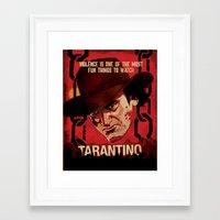 tarantino Framed Art Prints featuring TARANTINO Unchained by Jesus De La Mora