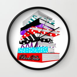 BookTube Stack of Books Wall Clock