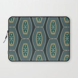 Midcentury Funky Chain Pattern Seaweed Laptop Sleeve