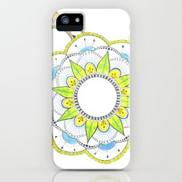 Mandala with floral patterns iPhone Case