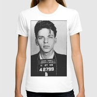 frank sinatra T-shirts featuring Frank Sinatra Mugshot by Neon Monsters
