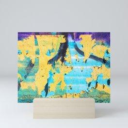 Softly peeling paint Mini Art Print