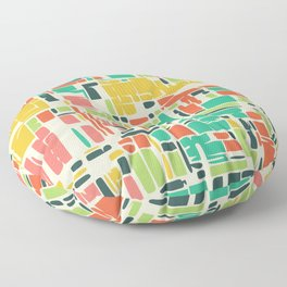 Road map abstract pattern Floor Pillow