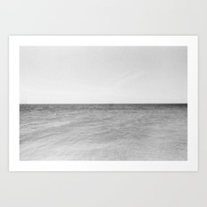 Minimal ocean Art Print