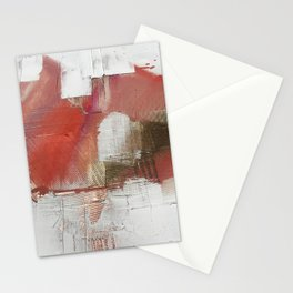 The Little Things: a minimal, abstract piece in reds and gold by Alyssa Hamilton Art Stationery Cards