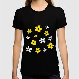 Yellow and White Japanese Flower Cherry Blossoms T-shirt
