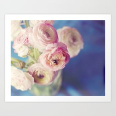 Ranunculus In Blue Art Print