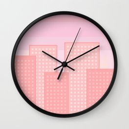 pretty city Wall Clock