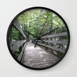 Boardwalk to Lighthouse Wall Clock