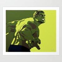 hulk Art Prints featuring Hulk by iankingart