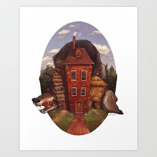 A Wolf at the Door Art Print
